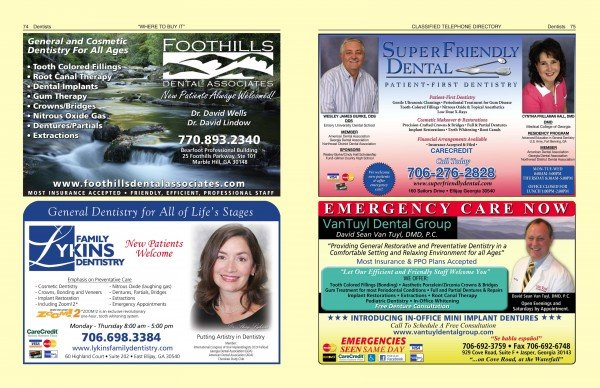 Yellow Pages – Specialty Pages – Tabs   Ellijay Telephone Company
